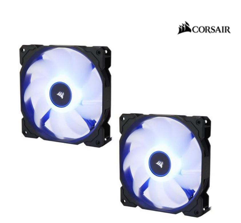 Corsair, Air, Flow, 140mm, Fan, Low, Noise, Edition, /, Blue, LED, 3, PIN, -, Hydraulic, Bearing, 1.43mm, H2O., Superior, cooling, performa,