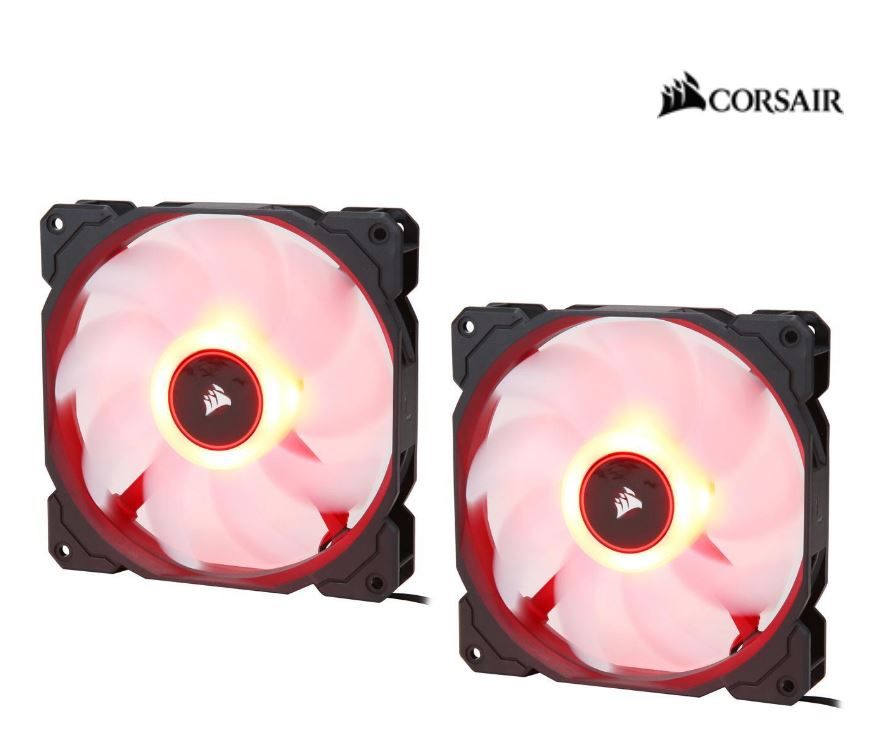 Corsair, Air, Flow, 140mm, Fan, Low, Noise, Edition, /, Red, LED, 3, PIN, -, Hydraulic, Bearing, 1.43mm, H2O., Superior, cooling, performan,
