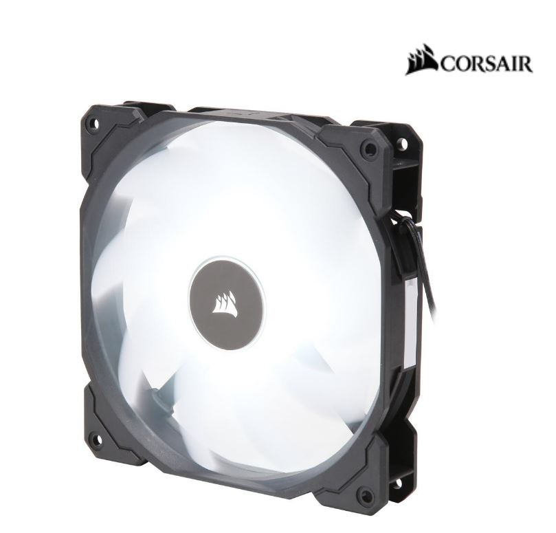 Corsair, Air, Flow, 140mm, Fan, Low, Noise, Edition, /, White, LED, 3, PIN, -, Hydraulic, Bearing, 1.43mm, H2O., Superior, cooling, perform,