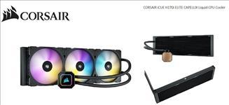 Corsair, H170i, Elite, CAPELLIX, 420mm, Radiator, 3x, ML140, RGB, Fans, Ultra, Bright, RGB, Commander, Pro, controller., ICUE, Liquid,