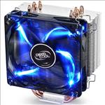 Deepcool, Gammaxx, 400, CPU, Cooler, (2011/1366/115X/775, FM2/1., AM3/2+), 4, Heatpipes, 120mm, PWM, LED, Fan,