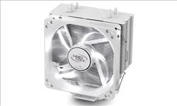 Deepcool, Gammaxx, 400, White, CPU, Cooler, 4, Heatpipes, 120mm, PWM, LED, Fan, Intel, LGA20XX/1366/115X/775, AMD, AM4, FM2, FM1, AM3+, AM,