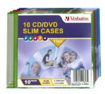 Verbatim, Slim, CD/DVD, Case, 10pk, Coloured, Slim, Cases,