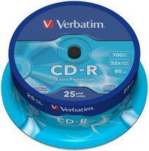 Verbatim, CD-R, 25pk, Spindle, 52x,