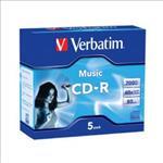Verbatim, CD-R, 80Min, 5Pk, Audio, 40x,