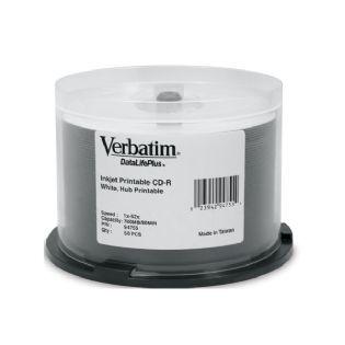 Verbatim, CD-R, 50pk, Spindle-Wide, IJ,