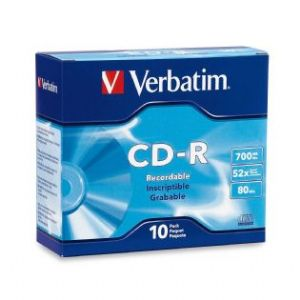 Verbatim, CD-R, 10pack, Slim, Case,