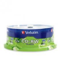 Verbatim, CD-RW, 700MB, 25Pk, Spindle, 4x-12x, H, Speed,