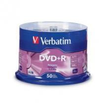 Verbatim, DVD+R, 4.7GB, 50Pk, Spindle, 16x,