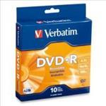 Verbatim, DVD-R, 4.7GB, 10Pk, Spindle, 16x,
