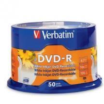 Verbatim, DVD-R, 50pack, InkJet, Printable,