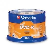 Verbatim, DVD-R4.7GB, 16x, 50Pk, White, Wide, Thermal, (Gloss), Spindle,