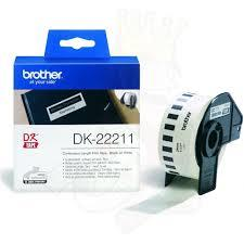 Brother, DK22211, White, Roll, (29mm, x, 15.24, metres),