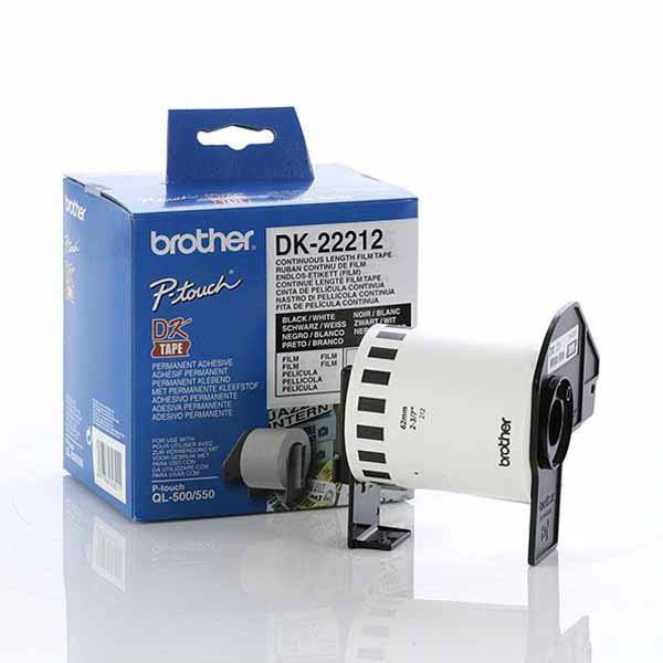 Brother, DK22212, White, Roll, (62mm, x, 15.24, metres),