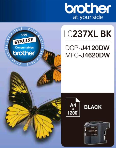 Brother, LC237XL, Black, Ink, Cart, (Up, to, 1, 200, pages),