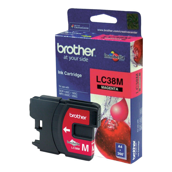 Brother, LC38, Magenta, Ink, Cart, (260, pages),