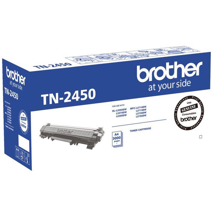 Brother, TN-2450, Mono, Laser, Toner-, Standard, HL-L2350DW/L2375DW/2395DW/MFC-L2710DW/2713DW/2730DW/2750DW, up, to, 3, 000, pages,