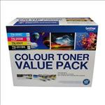 Brother, TN-251BK, and, TN255, Colour, Laser, Toner, Value, Pack., Black, Cyan, Magenta, Yellow, (8AE00003),