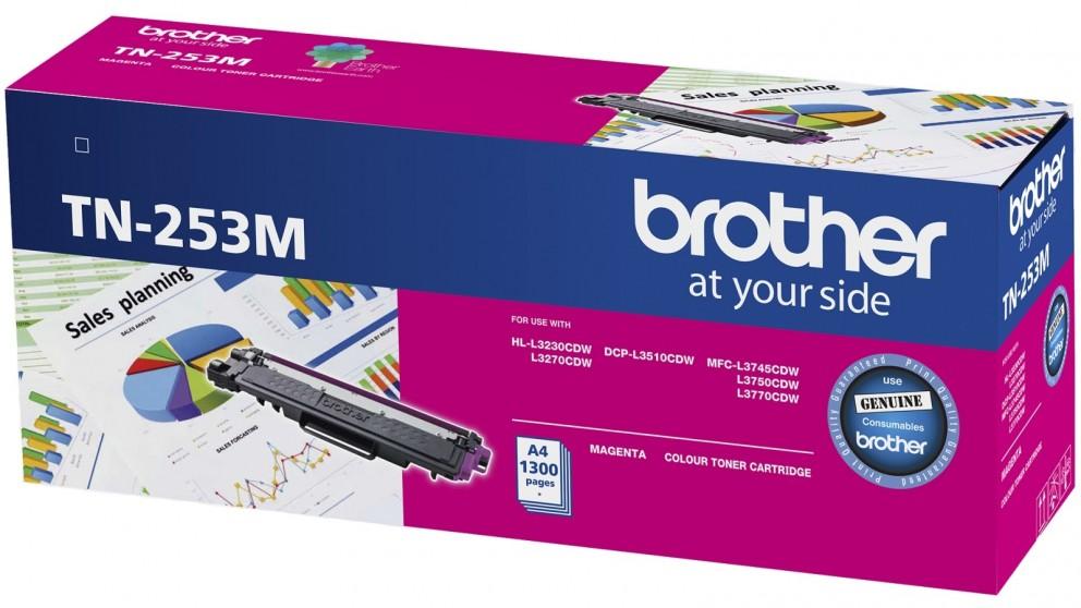 Brother, TN-253M, Magenta, Toner, Cartridge, to, Suit, -, HL-3230CDW/3270CDW/DCP-L3015CDW/MFC-L3745CDW/L3750CDW/L3770CDW, (1, 300,