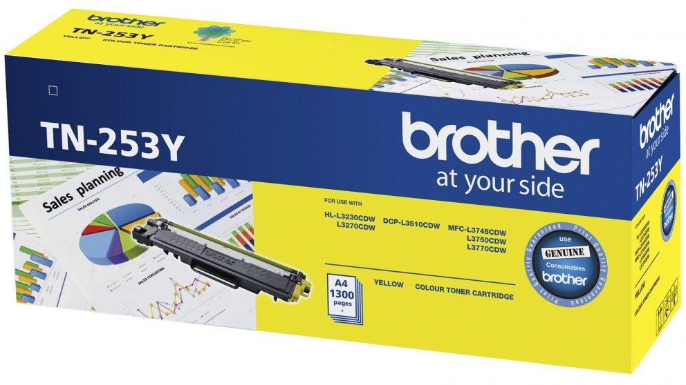 Brother, TN-253Y, Yellow, Toner, Cartridge, to, Suit, -, HL-3230CDW/3270CDW/DCP-L3015CDW/MFC-L3745CDW/L3750CDW/L3770CDW, (1, 300,