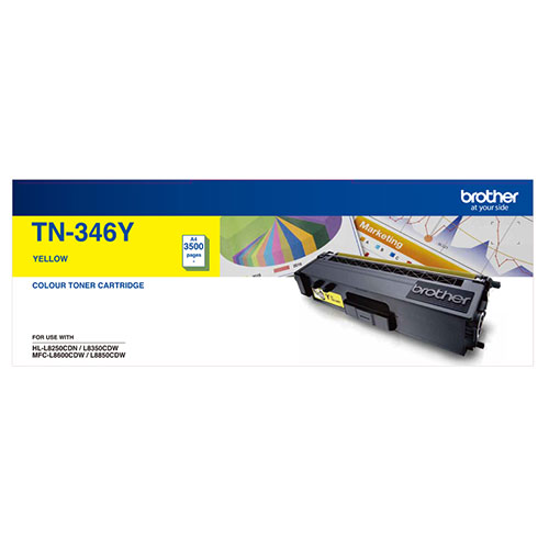 Brother, TN-346Y, Colour, Laser, Toner-, High, Yield, Yellow-, HL-L8250CDN/8350CDW, MFC-L8600CDW/L8850CDW, -, 3500Pages,