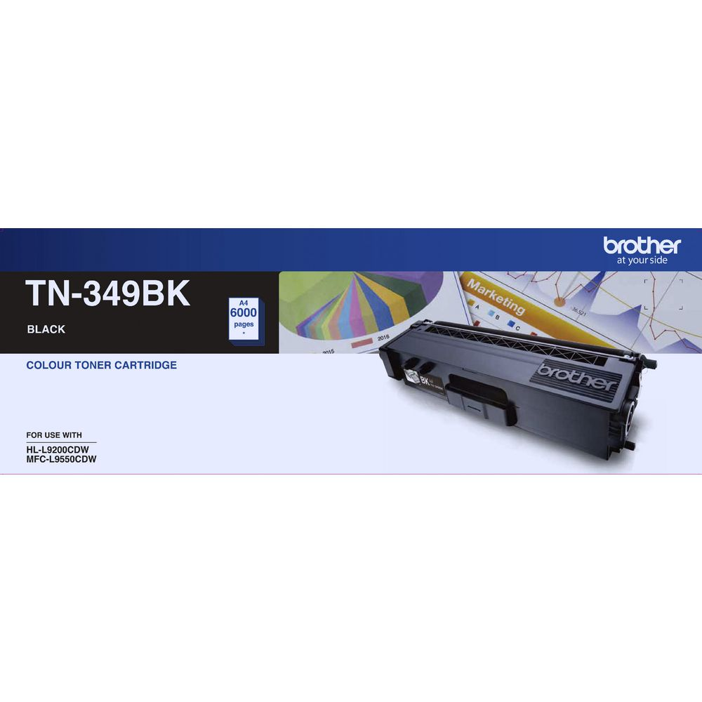 Brother, TN349, Black, Toner, Cart, (6, 000, pages),