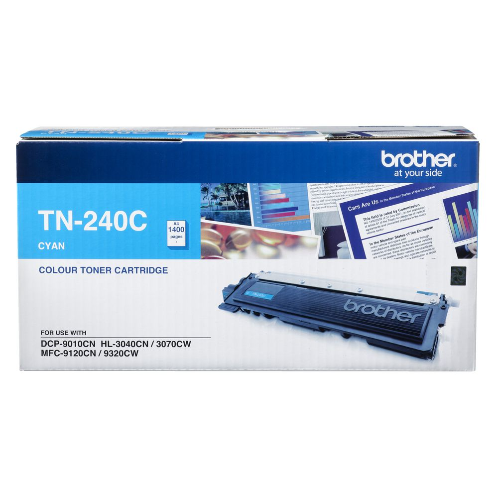 Brother, TN240, Cyan, Toner, Cart, (1, 400, pages),