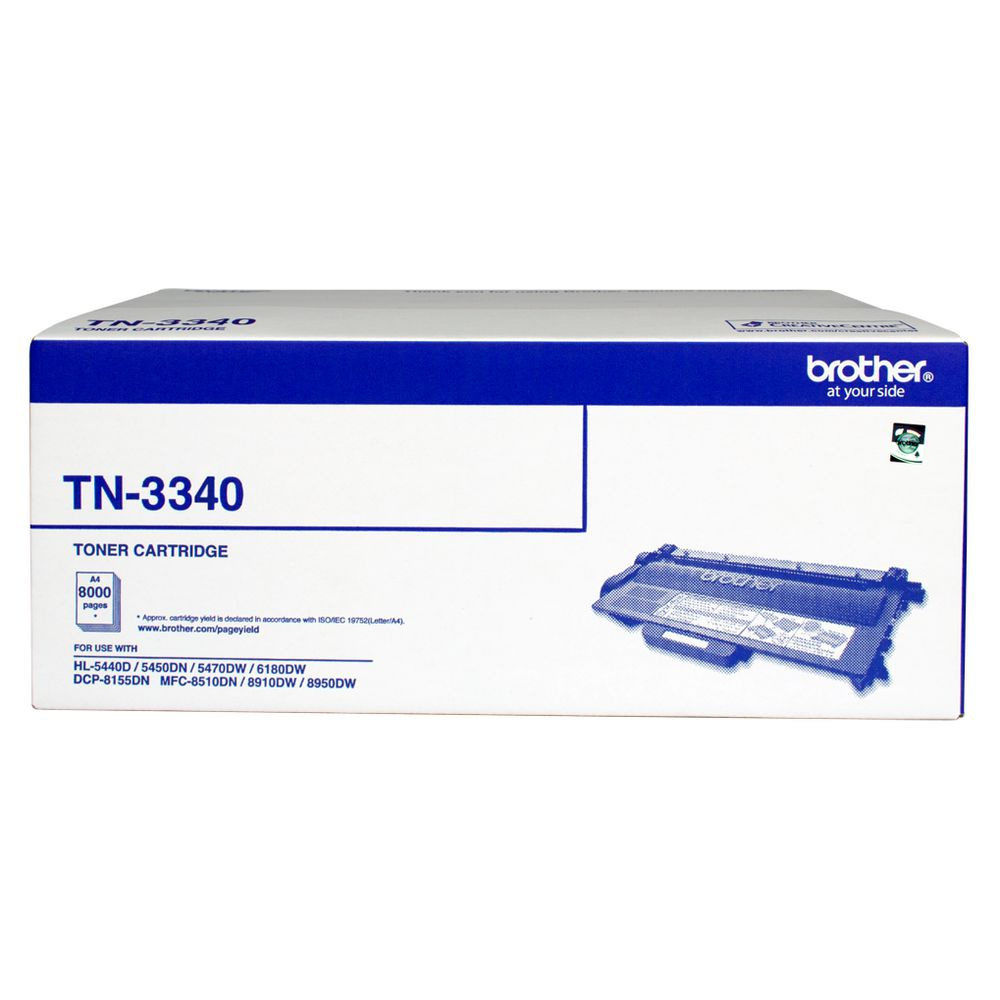 Brother, TN-3340, Mono, Laser, toner, -, High, yield, -, HL-5440D/5450DN/5470DW/6180DW, &, MFC-8510DN/8910DW/8950DW, &, DCP-8155DN-,