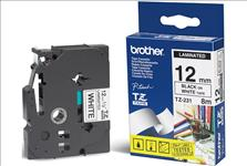 Brother, 12mm, Blk, on, White, Tape, -, Laminated, Tape,