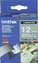 TAPE, WHITE, ON, LIGHT, GRAY, 12MM,