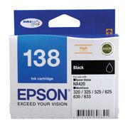 Epson, 138, Black, Ink, Cart, (380, pages),