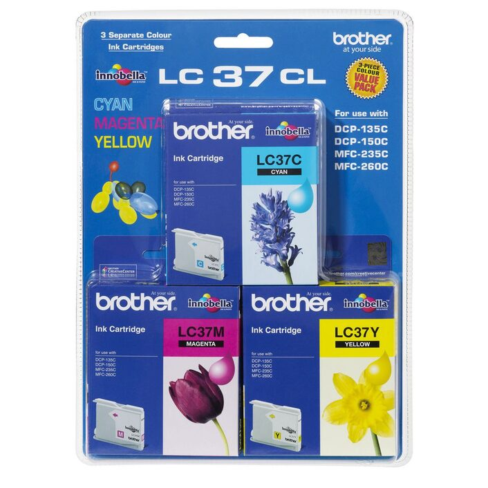 Brother, LC37, CMY, Colour, Pack, (300, pages, each),