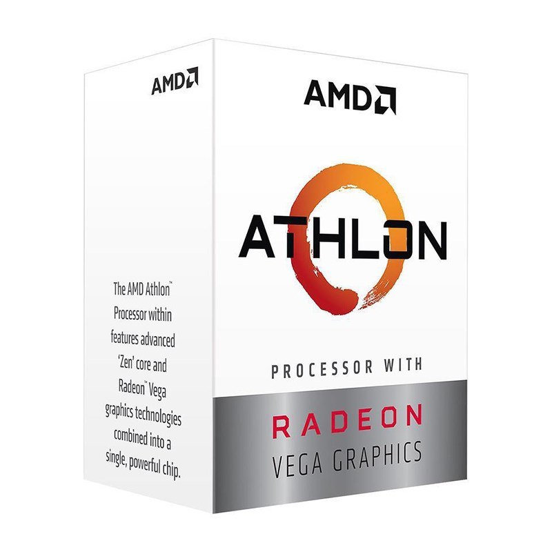 AMD, Athlon, 200GE, 4, Core, AM4, CPU, 3.2GHz, 4MB, 35W, with, powerfull, Radeon, Vega, Graphics,