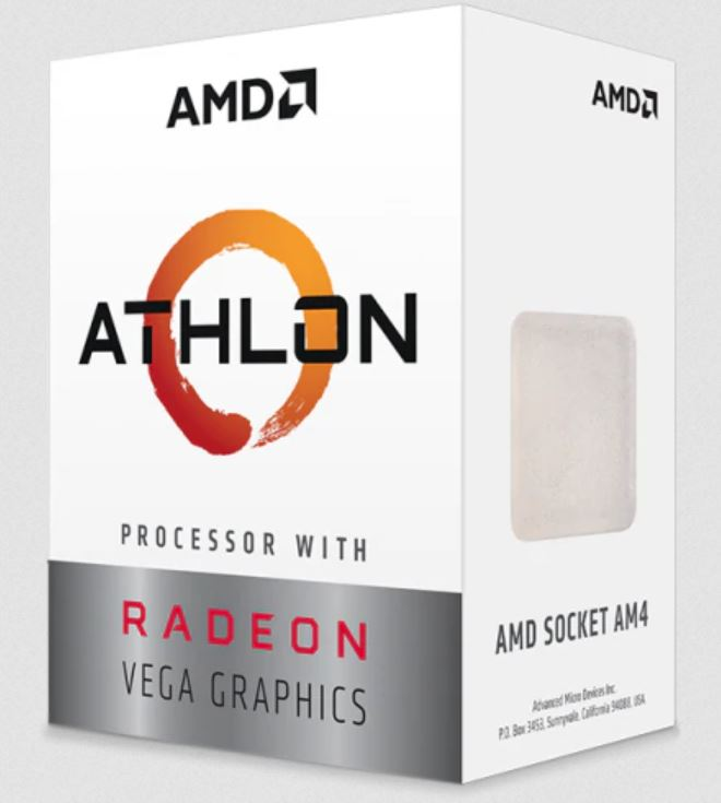 AMD, Athlon, 3000G, 2, Core, 4, Threads, 3.5Ghz, 5MB, Cache, Socket, AM4, 35W, with, Radeon, Vega, 3, Graphics, With, Silent, Fan,
