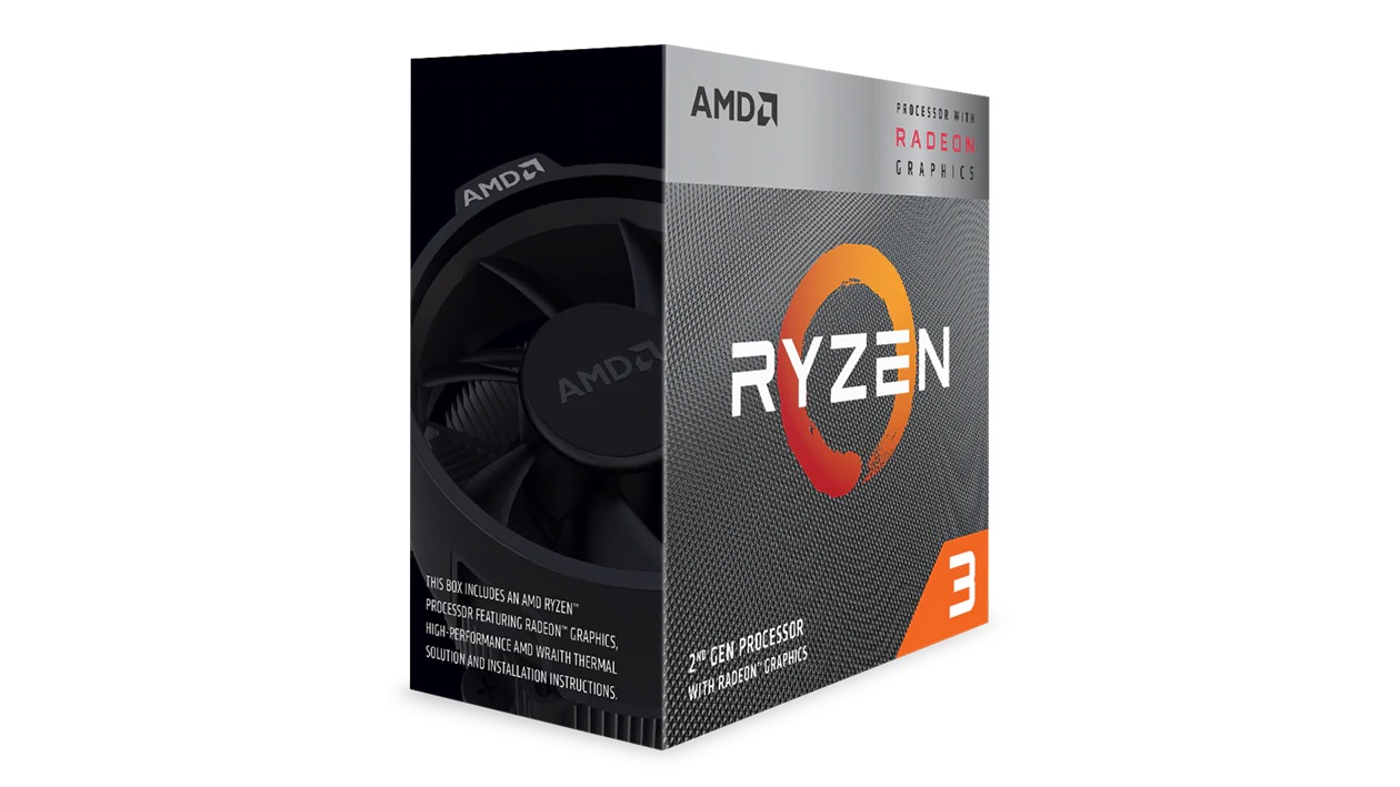 AMD, Ryzen, 3, 3200G, 4, Core, AM4, CPU, 3.6GHz, 4MB, 65W, w/Wraith, Stealth, Cooler, Fan, RX, Vega, Graphics, Box,