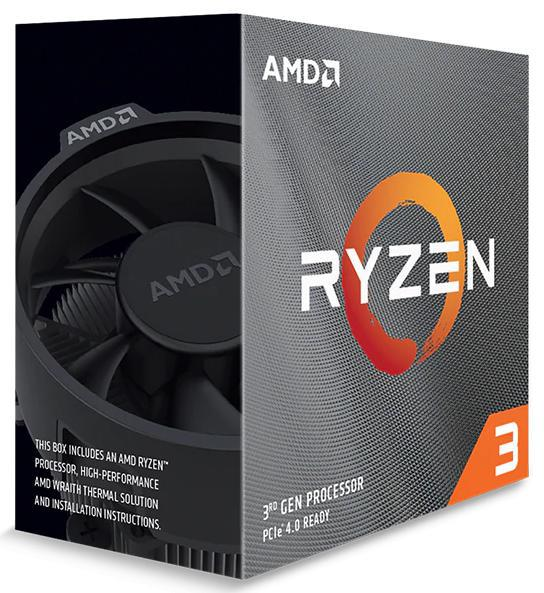 AMD, Ryzen, 3, 3100, 4-Core/8, Threads, UNLOCKED, Max, Freq, 3.9GHz, 18MB, Cache, Socket, AM4, 65W, with, Wraith, Stealth, cooler,