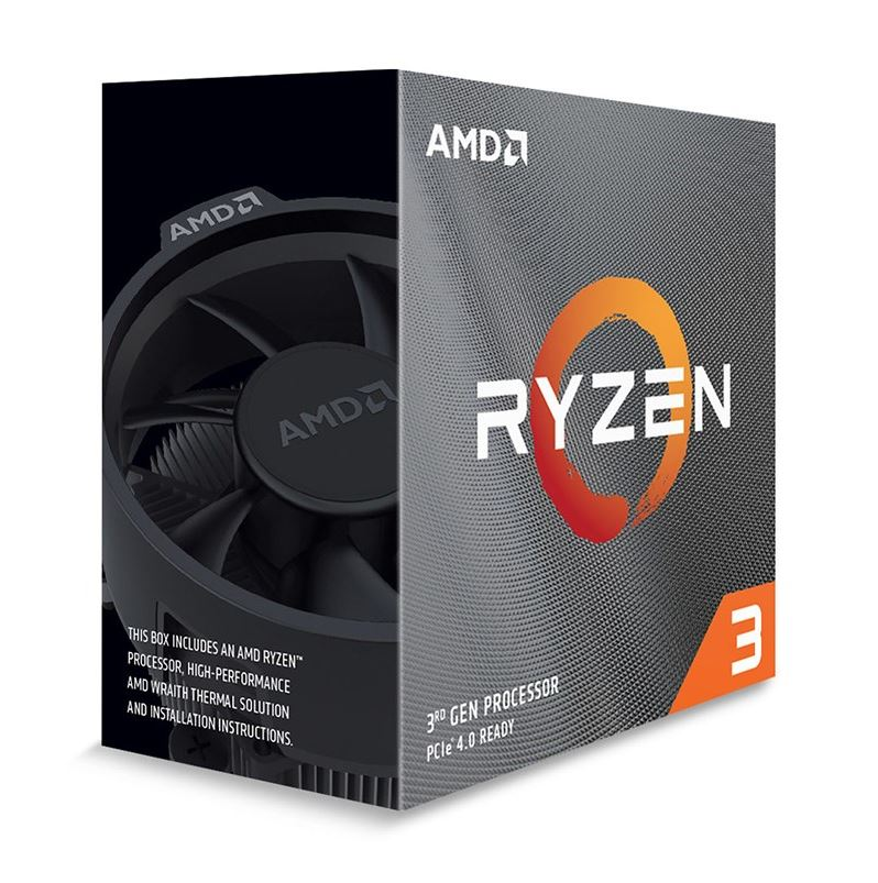 AMD, Ryzen, 3, 3300X, 4-Core/8, Threads, UNLOCKED, Max, Freq, 4.3GHz, 18MB, Cache, Socket, AM4, 65W, with, Wraith, Stealth, cooler,