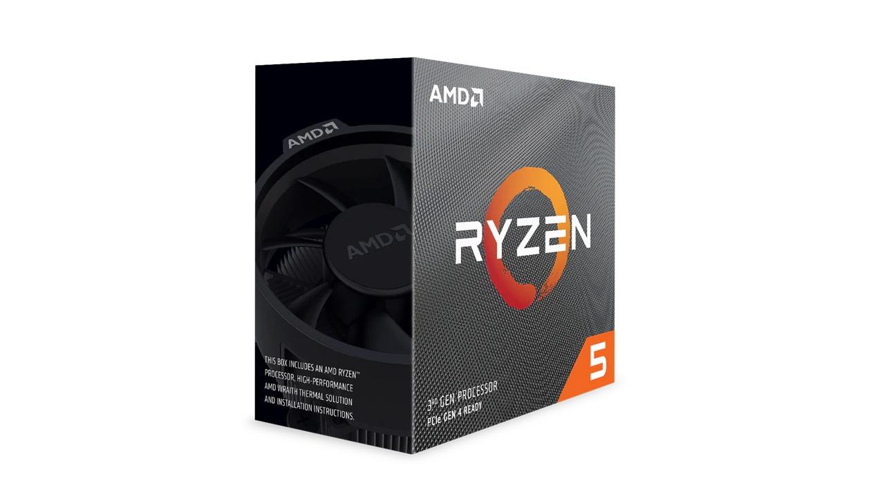 AMD, Ryzen, 5, 3600X, 6, Core, AM4, CPU, 3.8GHz, 4MB, 65W, w/Wraith, Stealth, Cooler, Fan,