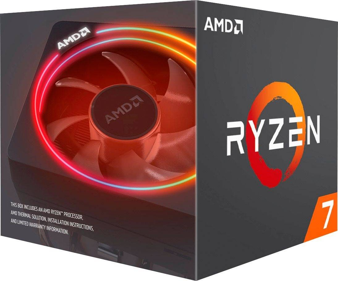 AMD, Ryzen, 7, 3700X, 8, Core, AM4, CPU, 3.6GHz, 4MB, 65W, w/Wraith, Prism, Cooler, Fan,