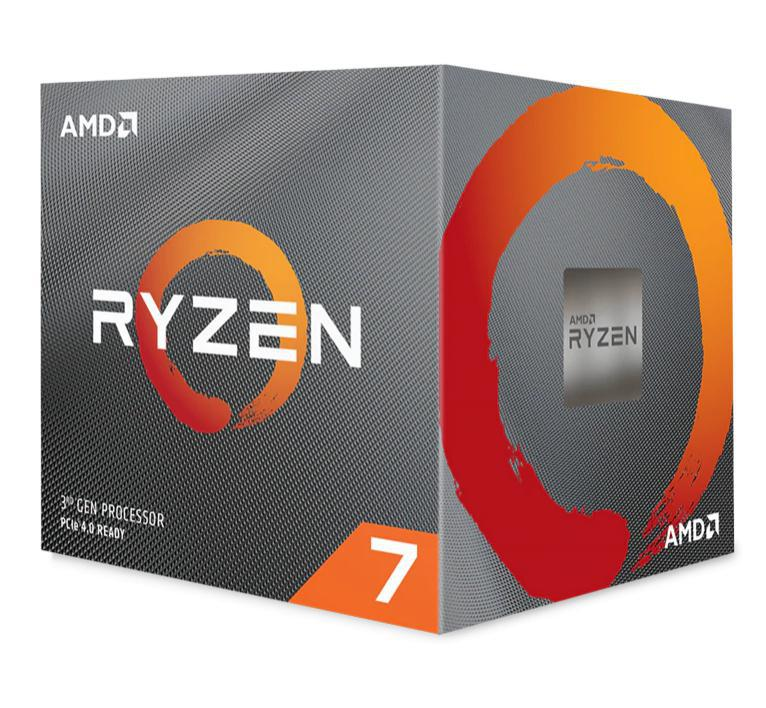 AMD, Ryzen, 7, 3800X, 8, Core, AM4, CPU, 3.9GHz, 4MB, 105W, w/Wraith, Prism, Cooler, Fan,