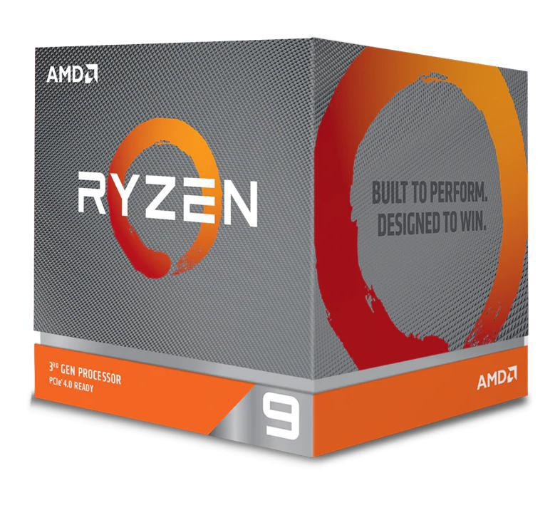 AMD, Ryzen, 9, 3900X, 12, Core, AM4, CPU, 3.8GHz, 4MB, 105W, w/Wraith, Prism, Cooler, Fan,