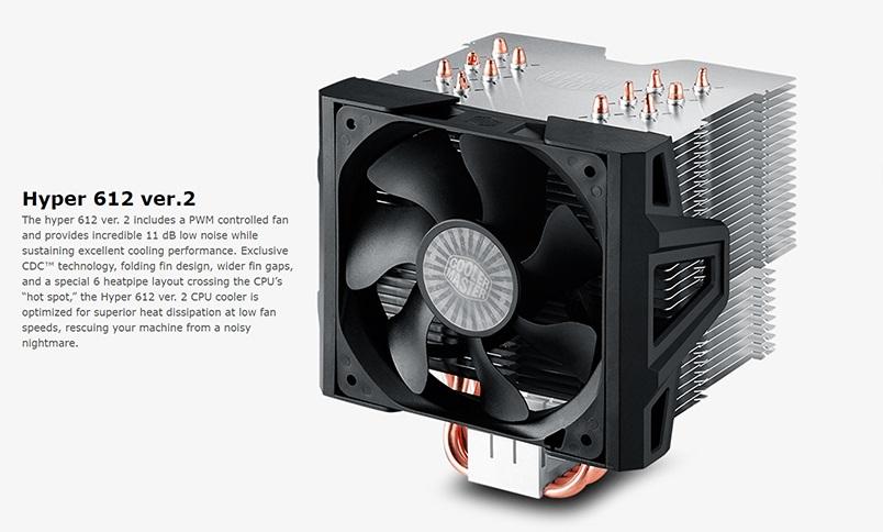 Coolermaster, Hyper, 612v2, Cooler, X-Vent, CDC, Design, Multi-Socket, CPU, Cooler,