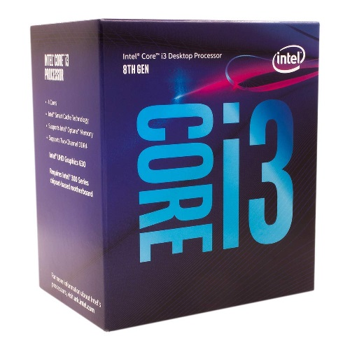 Intel, CORE, i3-8100, 3.60GHZ, 6MB,