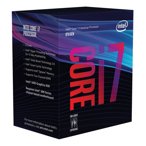 Intel, CORE, i7-8700, 3.20GHZ, 12MB,