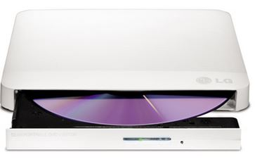 LG, GP50NW40, Super-Multi, Portable, DVD, Rewriter, 8x, DVD-R, Writing, Speed.TV, Connectivity., M-DISC, Support., Silent, Play, -, Whit,