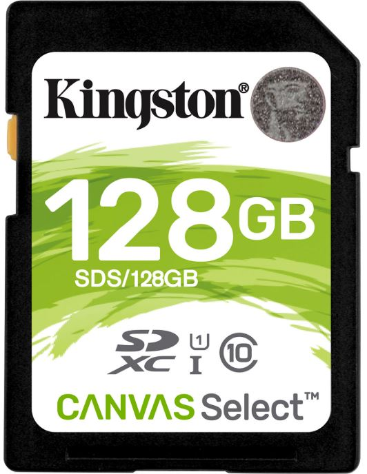 Kingston, 128GB, SD, Card, SDHC/SDXC, Class10, UHS-I, Flash, Memory, 80MB/s, Read, 10MB/s, Write, Full, HD, for, Photo, Video, Camera, Wate,