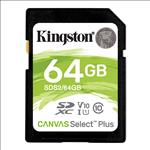 Kingston, 64GB, SD, Card, SDHC/SDXC, Class10, UHS-I, Flash, Memory, 85MB/s, Read, 100MB/s, Write, Full, HD, for, Photo, Video, Camera,