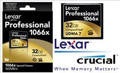 Lexar, 1066x, 32GB, Compact, Flash, CF, Card, Upto, 160MB/s, VPG-65, Standard, (LS),