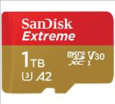 SanDisk, 1TB, Extreme, microSD, SDHC, SQXAF, V30, U3, C10, A1, UHS-1, 160MB/s, R, 90MB/s, W, 4x6, SD, Adaptor, Android, Smartphone, Action, C,