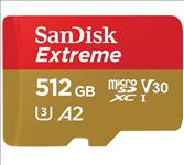 SanDisk, 512GB, Extreme, microSD, SDHC, SQXAF, V30, U3, C10, A1, UHS-1, 160MB/s, R, 90MB/s, W, 4x6, SD, Adaptor, Android, Smartphone, Action,